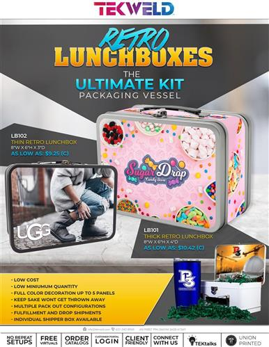 Retro Lunchboxes - The ULTIMATE KIT Packaging Vessel