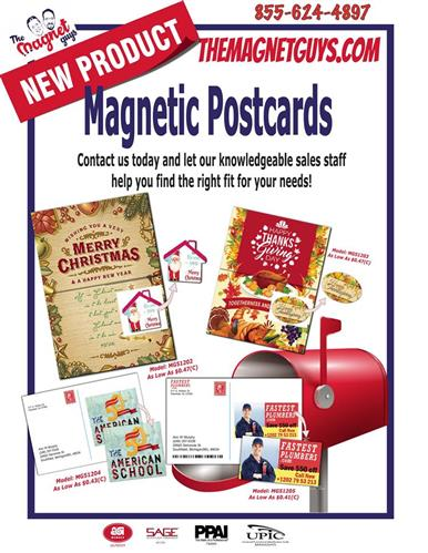 New! Magnetic Postcards now Available from The Magnet Guys!