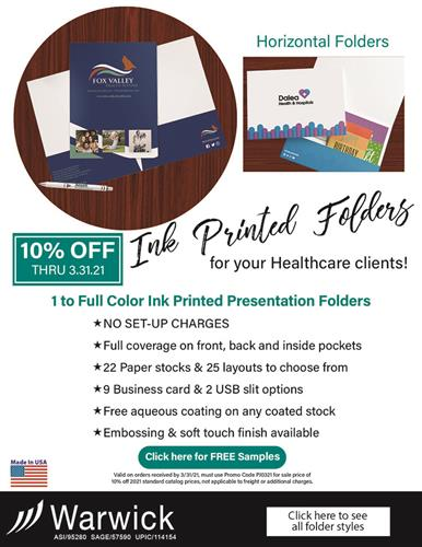 10% Off - Ink Printed Folders