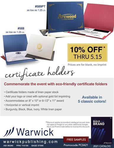 It's Certificate Award and Graduation Season, Save 10%