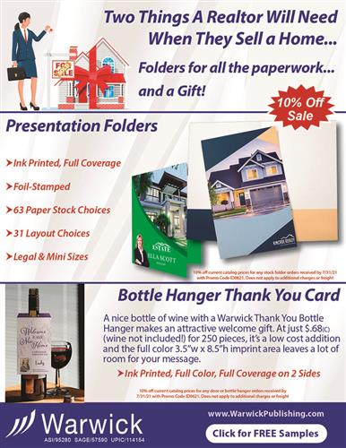 Two things a Realtor will need - Folders and a Gift Tag.