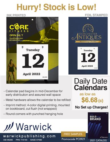Largest Selection of USA Made Daily Date Calendars