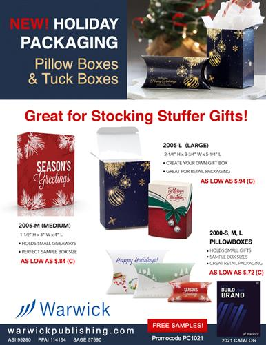 Budget Priced Full Color Gift Boxes from Warwick