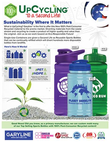 Sustainability Where it Matters – UpCycle Your Drinkware!