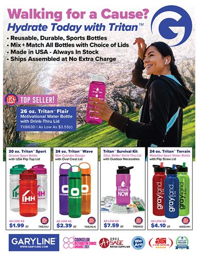Walking for a Cause? Hydrate with Tritan™!