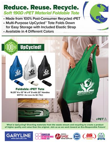 Everyday Should Be Earth Day! UpCycled Foldable Totes with a Story!