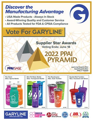 Vote for Garyline in the PPAI Pyramid – Supplier Star Competition
