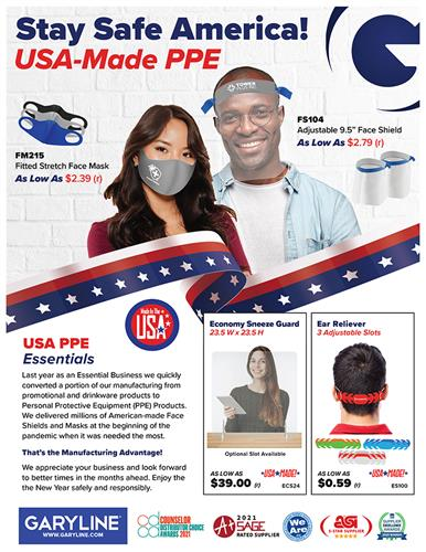USA Made PPE – Face Masks, Face Shields, Sneeze Guards!