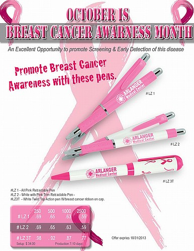 promote breast cancer awareness with these pens. Black Bedroom Furniture Sets. Home Design Ideas