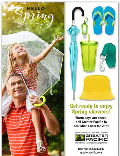 Get ready to enjoy spring showers!
