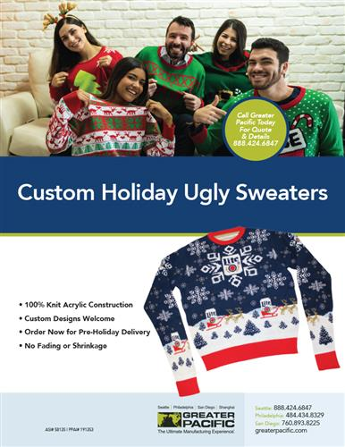 Custom Holiday Ugly Sweater From Greater Pacific!