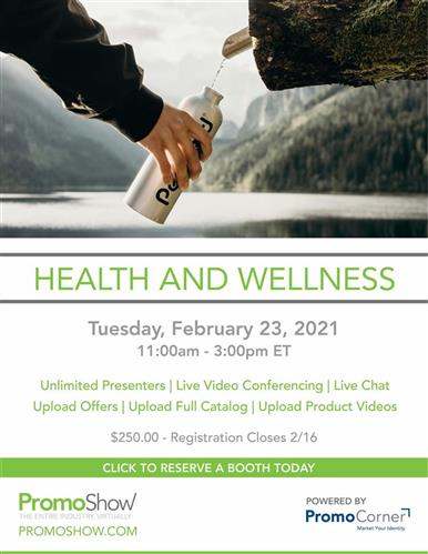 Sign Up Today! Health & Wellness Show Feb. 23