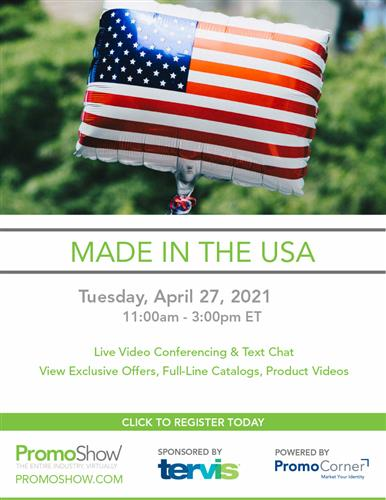 Register Today. Made in the USA Virtual Show 4/27