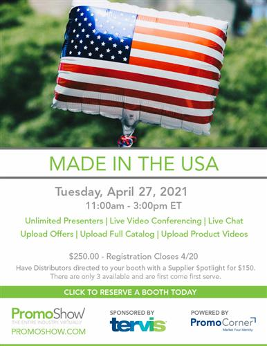 Suppliers! Reserve Your Made in the USA Booth Today!