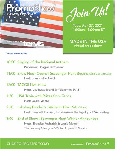 Join Us on 4/27 for a Made in the USA Virtual Event