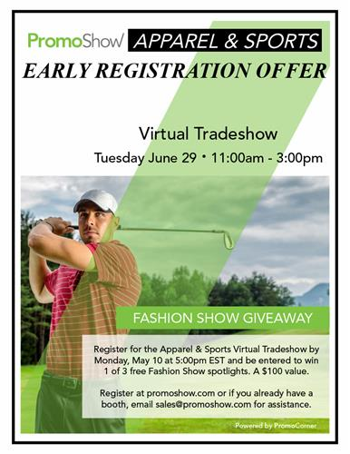 Register Early & Be Entered to Win - Apparel & Sports Show