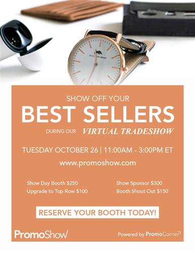 Last Chance! Reserve Your Best Sellers Booth TODAY!
