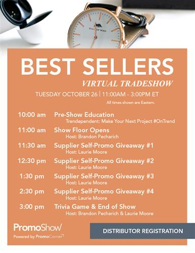 Register Today! Best Sellers Show 8/26