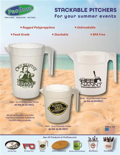 Save on Low-Cost Stackable Pitchers for Summer Events