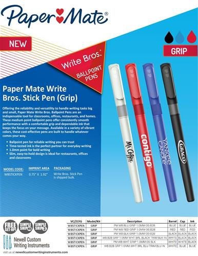 Introducing the NEW Write Bros. Stick - Grip Pen!