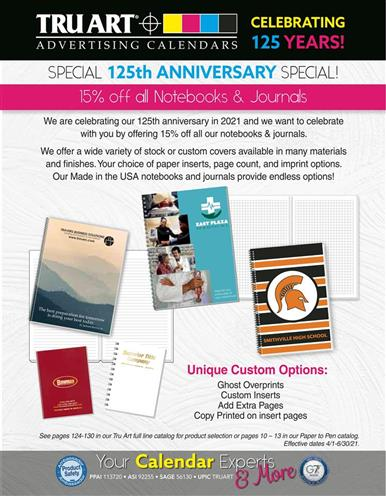 Exciting 125th Anniversary Special! Save on Notebooks and Journals!