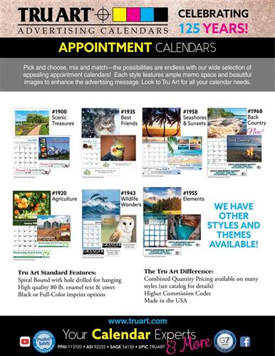 Mix and match these best-selling appointment calendars!